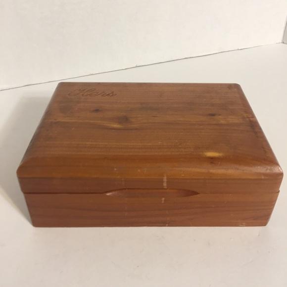 """Nice n Simple """"Hers"""" Wooden Trinket Box!"""